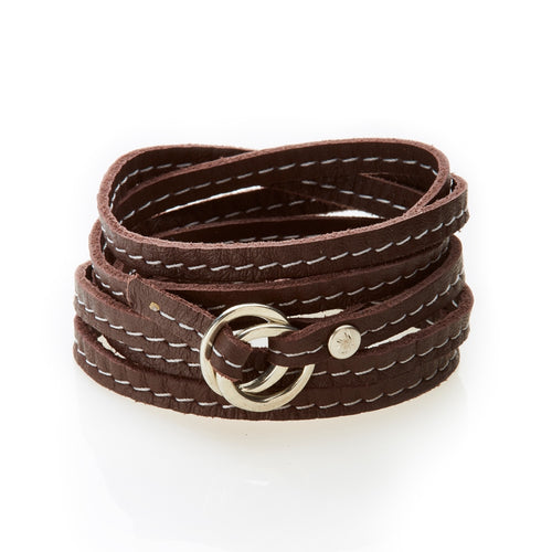 REBEL Versatile leather wrap Dark Brown - No Memo