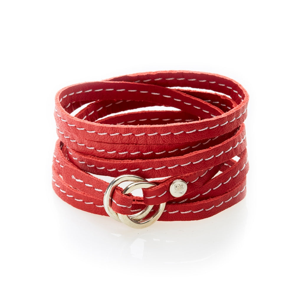 REBEL Versatile leather wrap Red - No Memo