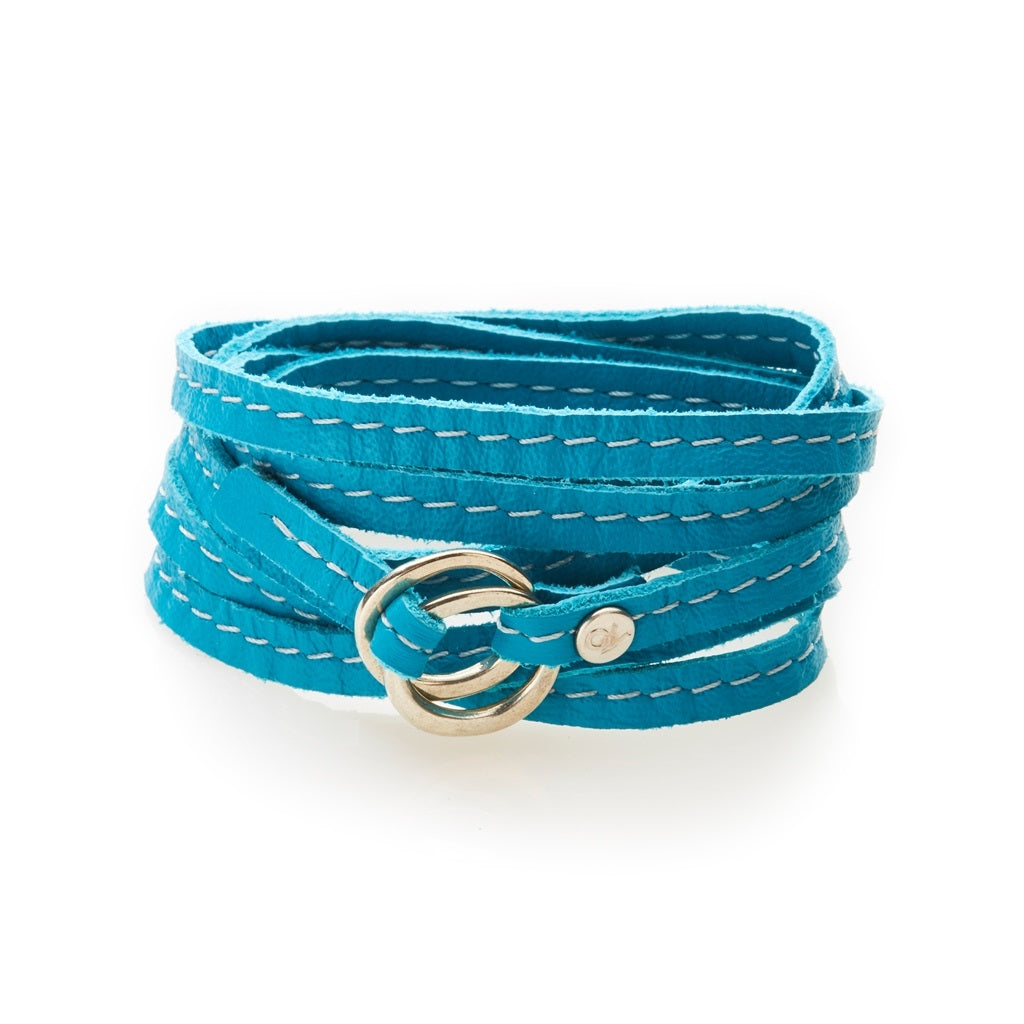 REBEL Versatile leather wrap Turquoise - No Memo