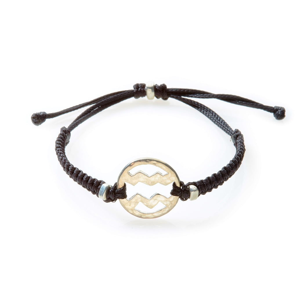 SPIRIT Macrame Bracelet Aquarius - Black - No Memo