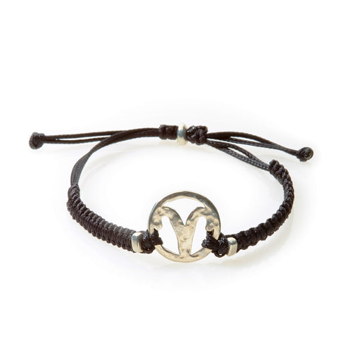 SPIRIT Macrame Bracelet Aries - Black - No Memo
