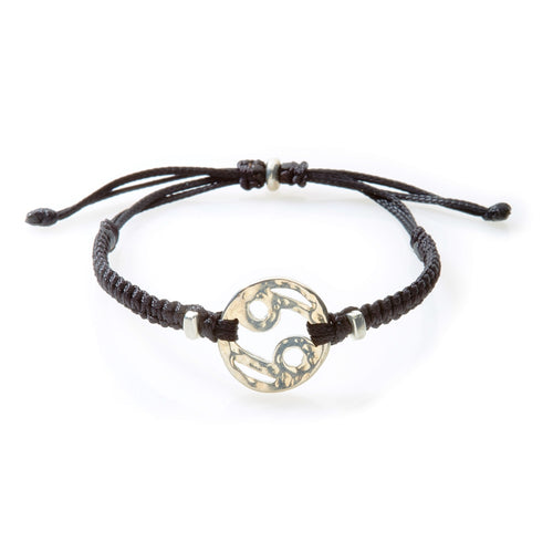 SPIRIT Macrame Bracelet Cancer - Black - No Memo