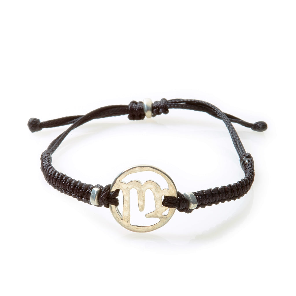SPIRIT Macrame Bracelet Virgo - Black - No Memo