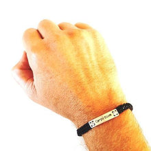 Load image into Gallery viewer, CHAMP Macrame Bracelet Carpe Diem - Black/Light Grey - No Memo