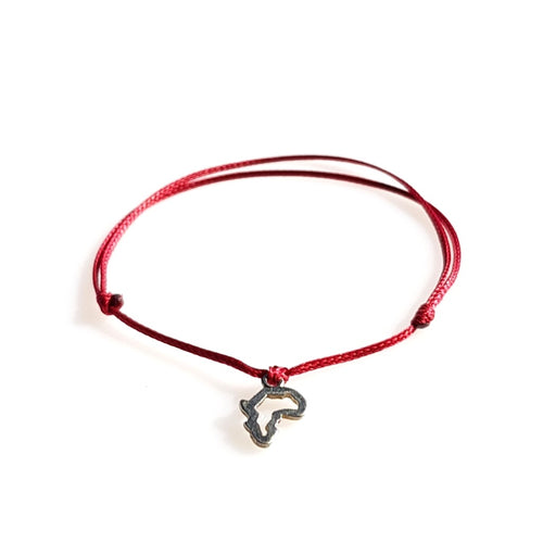 DAINTY Single Thread Bracelet Africa - Red - No Memo