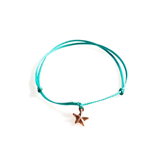 DAINTY Single Thread Bracelet Star - Teal