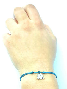 DAINTY Single Thread Bracelet Heart - Grey - No Memo