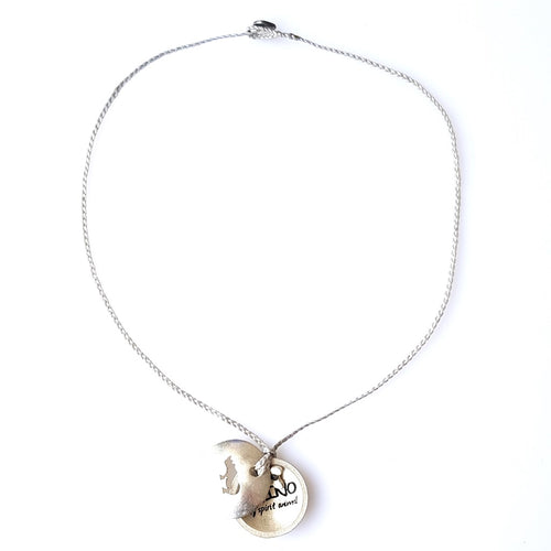 FOXY Braided Necklace & Choker Rhino - Pale Grey - No Memo