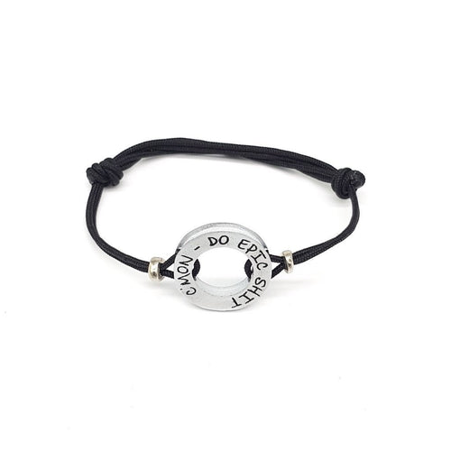 HERO Black Cord Bracelet - C'mon, do epic shit - No Memo