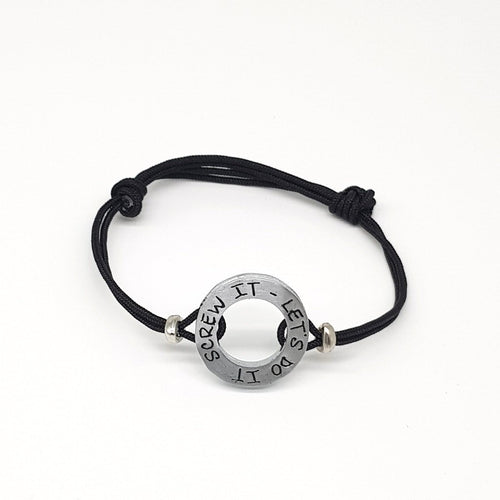 HERO Black Cord Bracelet - Screw it, let's do it - No Memo
