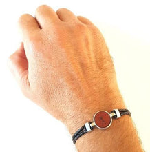 Load image into Gallery viewer, HUNK Braided leather Bracelet Hunter - Black - No Memo