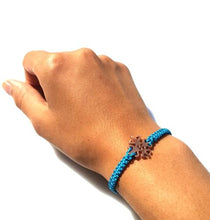Load image into Gallery viewer, ICON Macrame Bracelet Friendship - Teal - No Memo