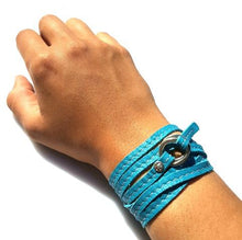 Load image into Gallery viewer, REBEL Versatile leather wrap Turquoise - No Memo