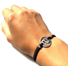 Load image into Gallery viewer, SPIRIT Macrame Bracelet Aquarius - Black - No Memo