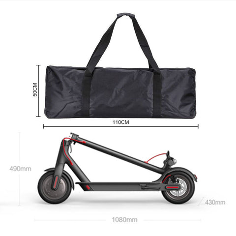 electric scooter storage carry bag and the Xiaomi Mijia M365 electric scooter