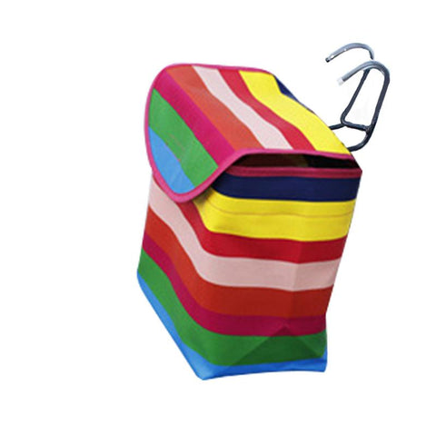 Rainbow bag for electric scooter with white background