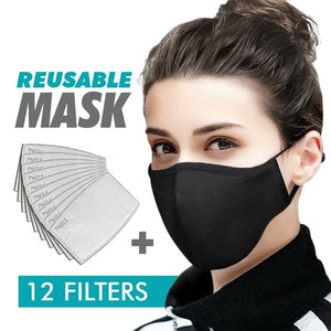 Unisex Washable Reusable Soft Cotton Mask & 12 Filters - Better Daily Goods