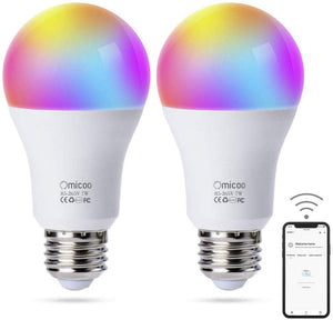 Smart WiFi Christmas LED Bulb E27 WiFi Multicolor Light Bulb Compatible with Alexa, Echo, Google Home and IFTTT (No Hub Required), A19 60W Equivalent RGB Color Changing Bulb - Better Daily Goods