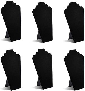 Black Velvet Necklace Jewelry Display Organizer Stand 6pcs/pack, 12.5inches - Better Daily Goods