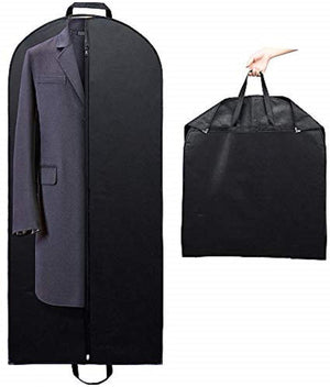 "Titan Mall 54"" Black Garment Bags Breathable Coat Cover Carrier Bag for Travel with Velcro & Handles, Pack of 1"