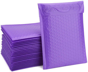 Fu Global 50pcs 6x10 inches Purple Bubble Mailer #0 Self Seal Padded Envelopes (Useful Size 6x9)