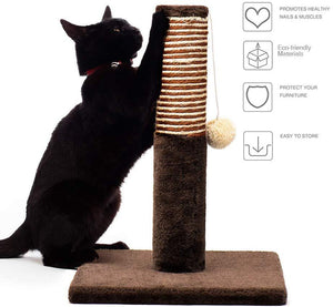 Delxo Cat Scratching Post Durable with Cat Interactive Toys Cat Scratch Post Plush and Sisal Cat Scratcher Eco-Friendly Design Maintain Healthy Cat Claws