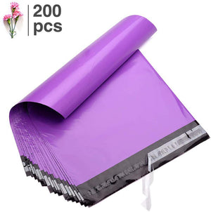 Fu Global 200pcs 10x13 inch Poly Mailers Purple mailing envelopes Durability Shipping Bags Multipurpose mailing Bags Self Sealing 2 Mil(Purple,200PCS)