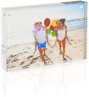 Acrylic Photo Frame - 5x7 inches 4 Magnet Double Sided Photo Frame with Microfiber Cloth,12 + 12MM Thickness Clear Picture Frame Desktop Display - Better Daily Goods