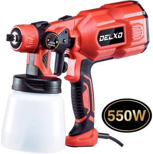 800ml Paint Sprayer 550W High Power HVLP Paint Sprayer Patent Spray Width Control Knob Even Spray No Leaking Perfect for Beginner Painting Fences Walls Floor and Furniture 3 Copper Nozzle - Better Daily Goods