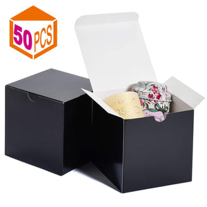 Kraft Boxes 4x4x4in Paper Gift Boxes with Lids for Gifts, Crafting, Cupcake Boxes, Boxes for Wrapping Gifts, Bridesmaid Proposal Boxes - Better Daily Goods