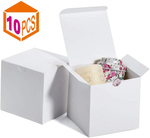 Gift Boxes 4x4x4 Inches Kraft Paper Gift Boxes with Lids for Gifts Crafting Cupcake Cardboard Boxes Bridesmaid Proposal Boxes Wedding Favor Boxes Gift Ornaments Easy Assemble Boxes (10) - Better Daily Goods