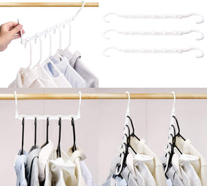 10 Pack White Magic Hangers Space Saving Clothing Hangers - Better Daily Goods