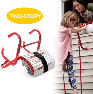 Fire Escape Ladder 2 Story Portable Emergency Escape Ladder All New Anti-Slip Step Easy to Deploy & Easy to Store 13 Feet Portable Fire Escape Ladder - Better Daily Goods