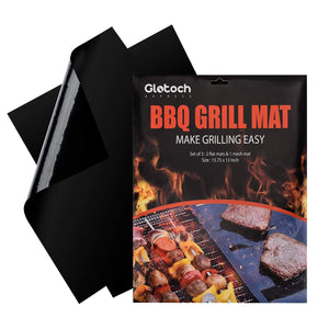 Grill Mat - Set of 3 Non Stick BBQ Grill Mats -Heavy Duty,Reusable and Dishwasher safe - Easy Clean & Easy Use on Gas, Charcoal, BBQ,Electric Grill - Better Daily Goods