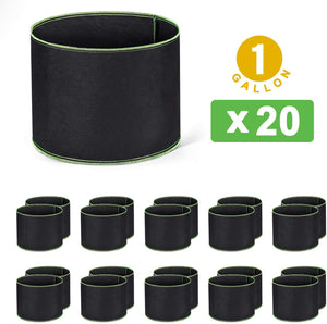 Delxo Grow Bags Heavy Duty Aeration Fabric Pots Thickened Nonwoven Fabric Pots Plant Grow Bags