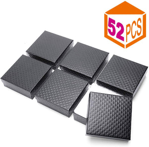 Jewelry Gift Boxes 3.5x3.5x1.25 (Black) 52 Pieces - Upgraded - Better Daily Goods