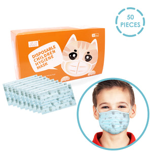 Kids 3-Ply Disposable Face Masks for Virus Protection (Random color) - Better Daily Goods