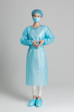 Level 2 Non-surgical Isolation Gown Non-Woven Fabric Light Blue - Better Daily Goods