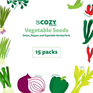Vegetable Seeds - Onion & Pepper Variety Pack - 15 Packs - Better Daily Goods