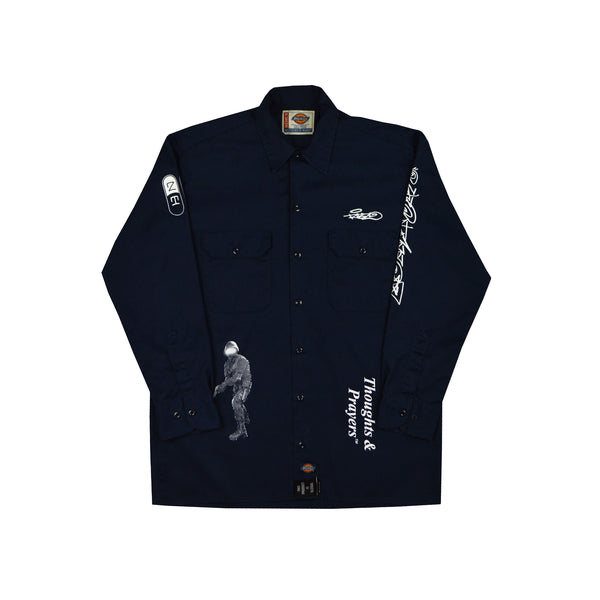 Full [Navy] Button-Up