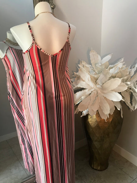 NEAPOLITAN STRIPED MAXI DRESS