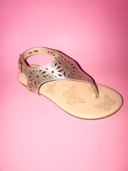 BIG GIRLS FLOWER CUTOUT SANDALS