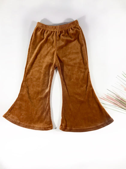 BROOKE VELOUR BELL BOTTOMS - CARAMEL MACCHIATO