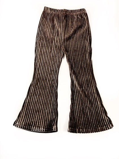 BROOKE VELOUR BELL BOTTOMS - CHOCOLATE RIPPLES