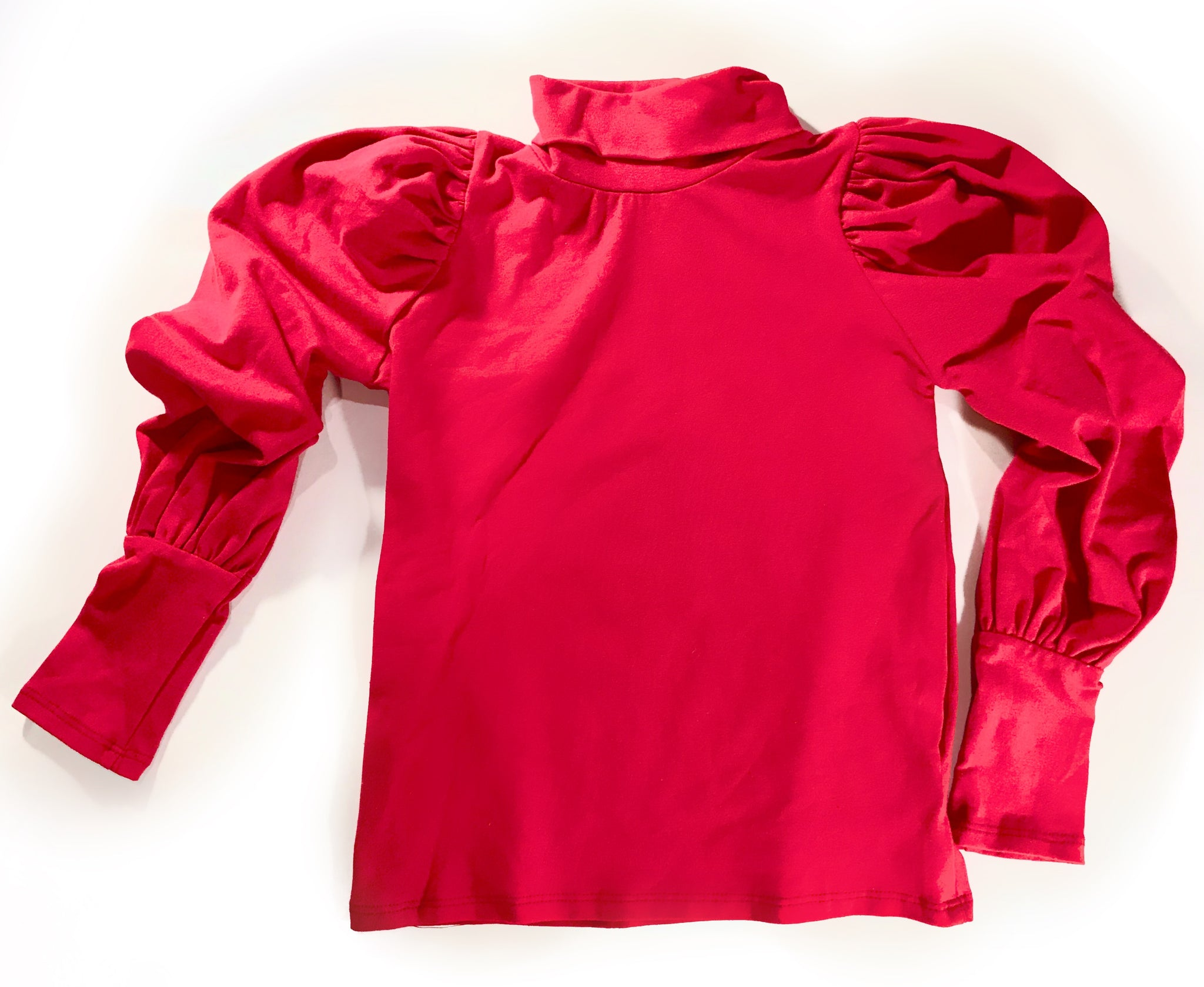 CAITLYN PUFF SLEEVE TOP - RED