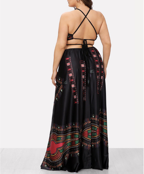 Nzuri Halter Dress