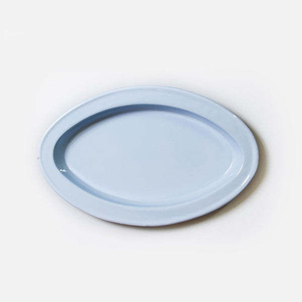 Enamelware Serving Platter - Cornflower