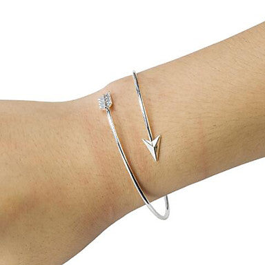 Flurr Gold And Silver Arrow Bangle