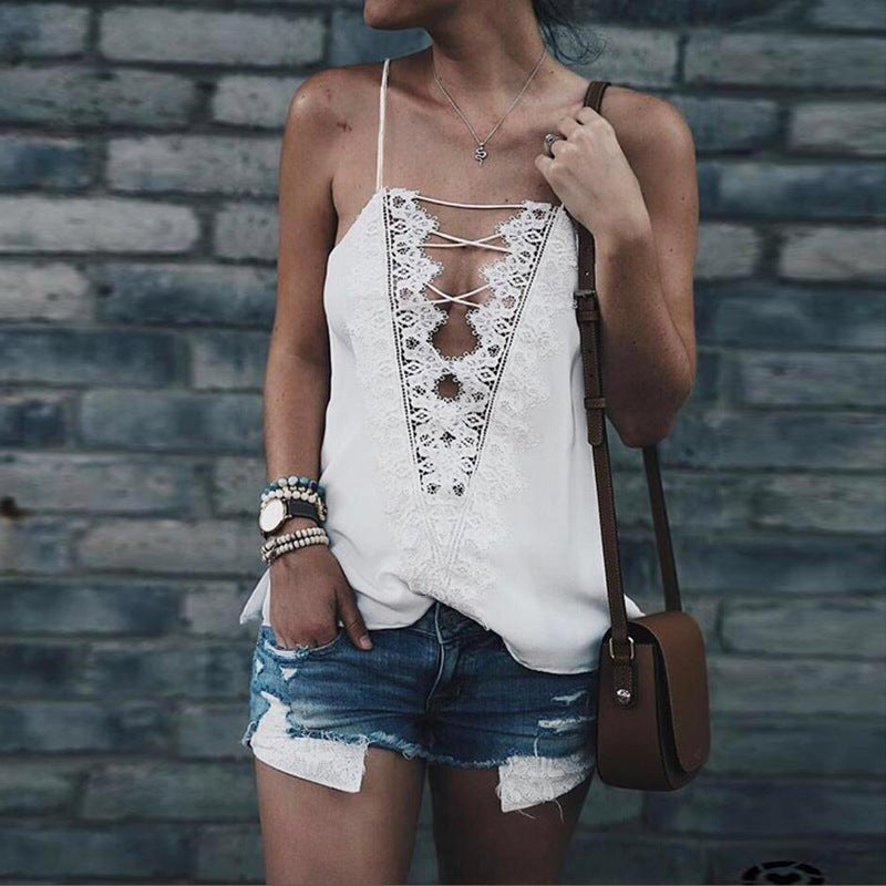 Flurr Faroonee Laced Up Cami Top