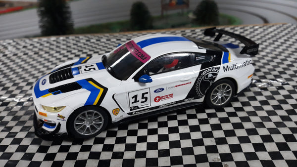 SWC06 Scalextric Ford Mustang GT4 White No.15